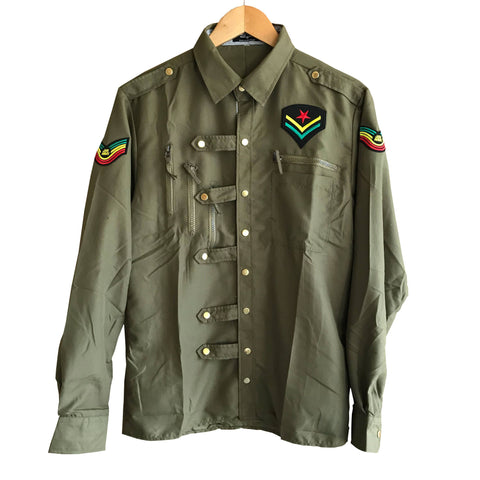 Rastafarian slim fit light khaki shirt RLW1559