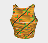 African print athletic crop top RLW2706