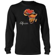 African map long sleeved T-shirt RLW1483