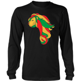 African map Lion Men's long sleeve shirt RLW1212