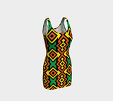 African print Bodycon dress RLW2739