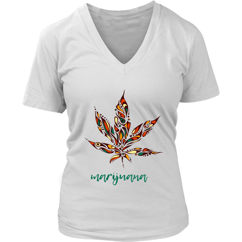 Herb Women's V-Neck T-Shirt RLW1085