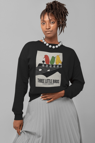 Unisex Three little birds Crewneck Sweatshirt RLW2977