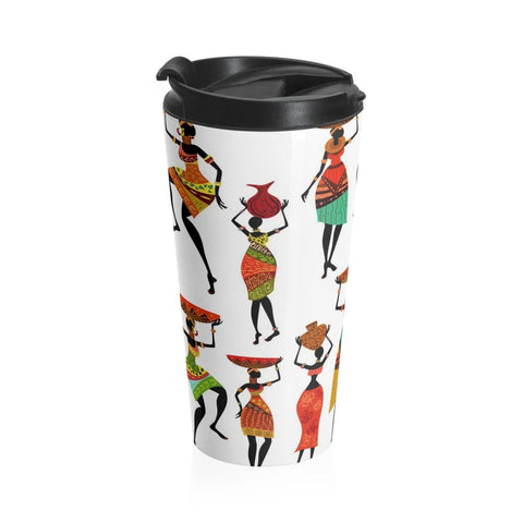 African print Stainless Steel Travel Mug RLW2637