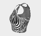 Zebra print athletic crop top RLW2713