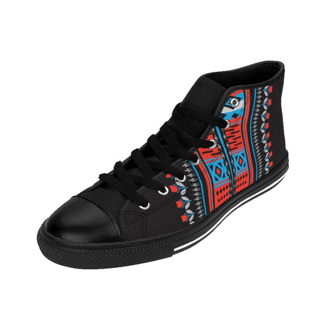 African print Men's High-top Sneakers RLW1916