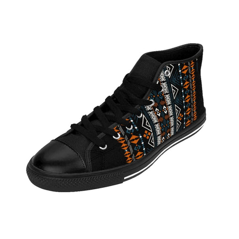 Afrian print Men's High-top Sneakers RLW1915