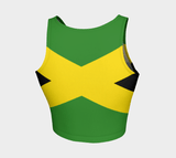 Jamaican flag athletic crop top RLW2710