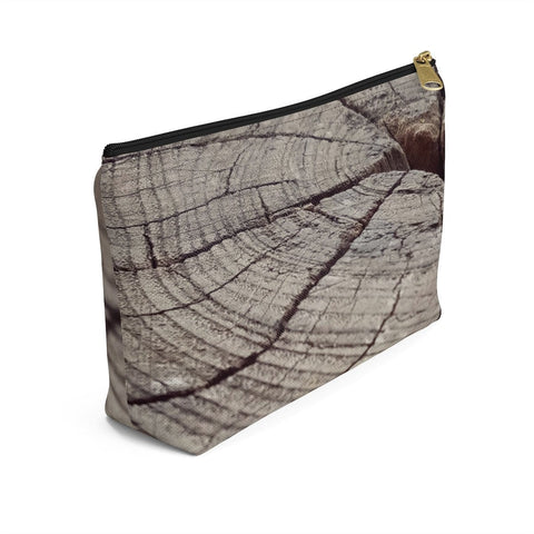 Natural wood print Accessory Pouch RLW1238