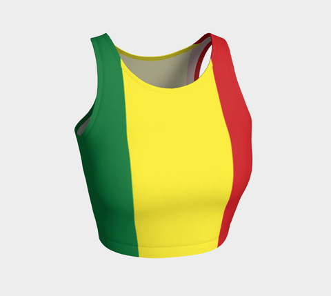 Rasta arthletic crop top RLW2714