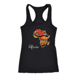 African map ladies T-back RLW1099
