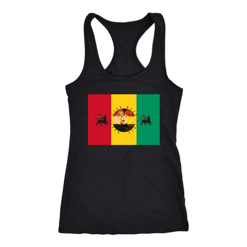 Rasta lion wear vibes Ladies t-back RLW1765