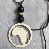 African map wakanda Necklace RLW2345