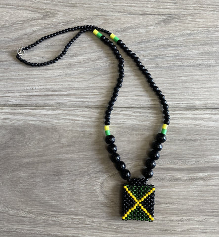 Jamaican weaved necklace RLW397