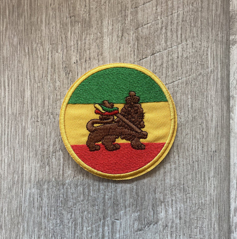 Lion of Judah Embroidered Iron On Patch RLW2360