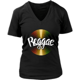 Reggae cool vinyl women's V-neck t-shirt RLW1505