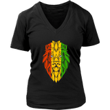 Lion of Judah Women's v-neck t-shirt RLW1249