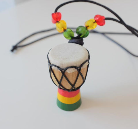 Jamaica African drum style necklace Rasta chain RLW2108