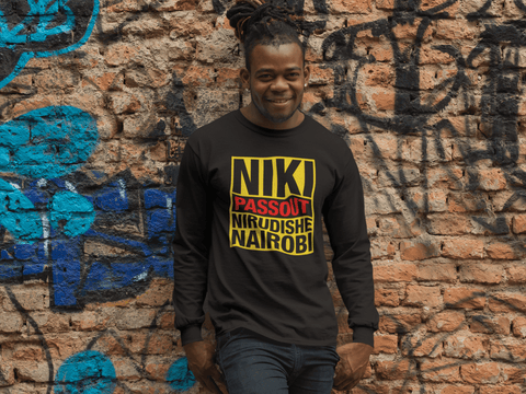 Kenyan/Nairobi Finest Men's Long Sleeved T-Shirt RLW548