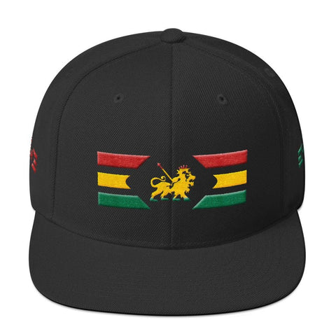 Rasta lion wear Yupoong 6089M Wool Blend Snapback RLW1210