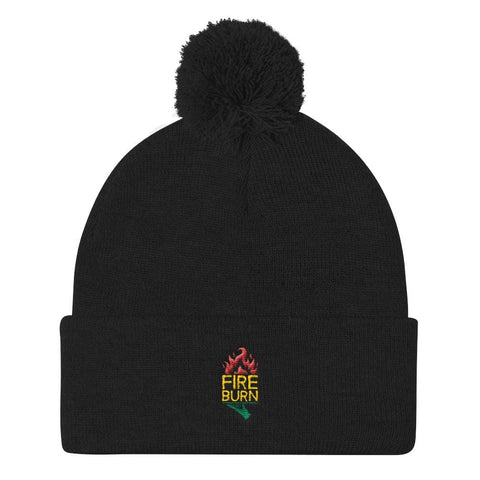 Fire burn Sportsman SP15 Pom Pom Knit Cap RLW968