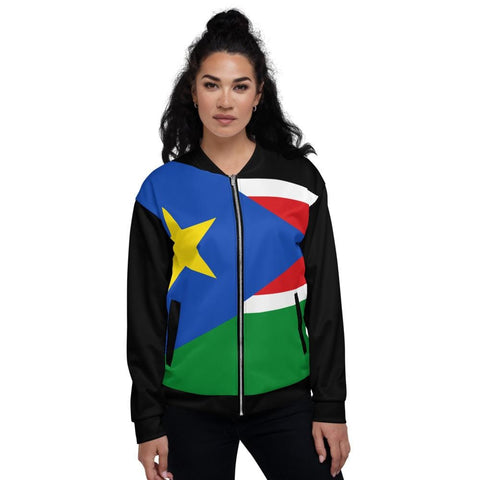 South Sudan Unisex Bomber Jacket RLW3027