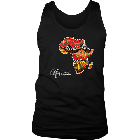 African map Men's tank/singlet RLW1181