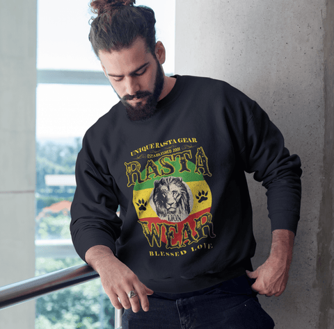 Rasta lion wear Men's Sweatshirt RLW1774