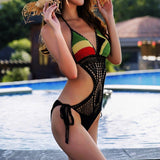 One Piece Knitted With Pad swimsuit /bikini RLW781