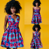 Traditional African Bandage Dress RLW714