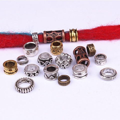 10pcs/pack Antique Silver different hair braid dreadlock beads RLW2888