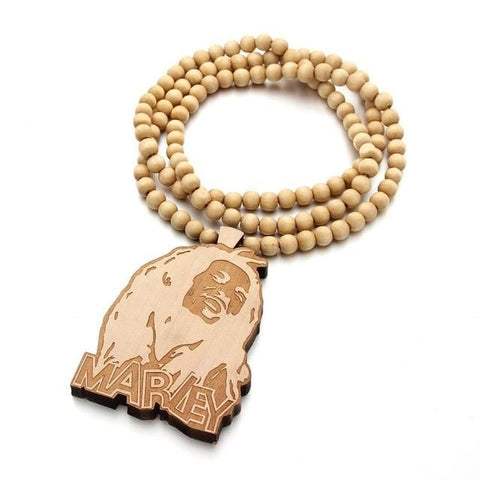 Marley wooden pendant/ Necklace RLW2037
