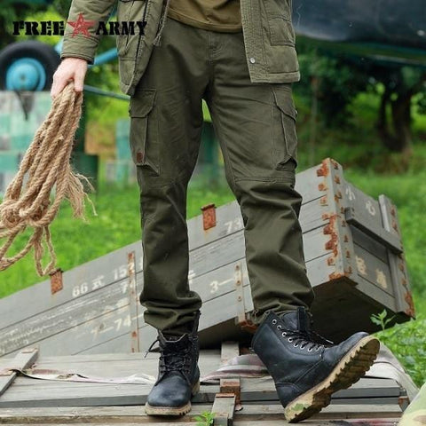 Military Cargo Pants Multi-pockets Baggy Men Pants RLW1683