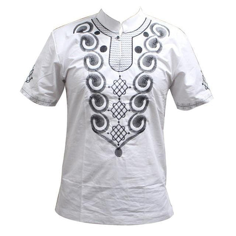 Men's Embroidery Traditional Mali African Top RLW1649