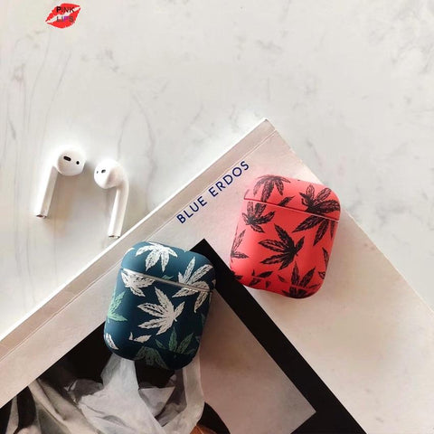 Hard Airpod Case Cover with Maple Leaves RLW2999