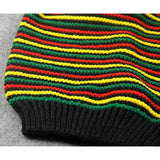 Rasta Reggae Multi-colour Striped Beanie RLW1370
