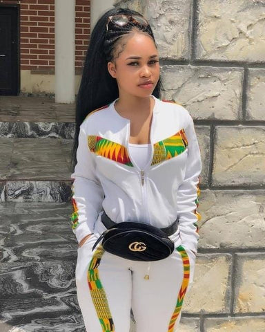 African style long sleeve 2 piece set casual lady fashion tracksuits RLW897