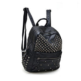 Waterproof Leather Rivet Zipper Backpack RLW1667