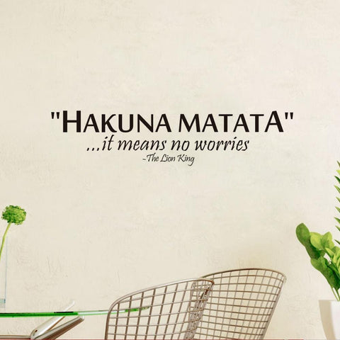 Hakuna Matata No Worry quote vinyl wall art sticker RLW947