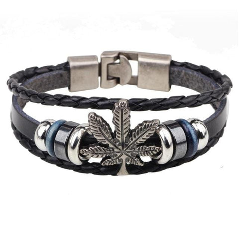 Weed /Unique /Vintage Leather Bracelet RLW1279