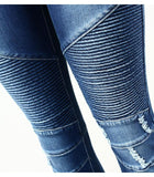 Women`s Biker Zip Mid High Waist Stretch Skinny Pants/Jeans RLW1313