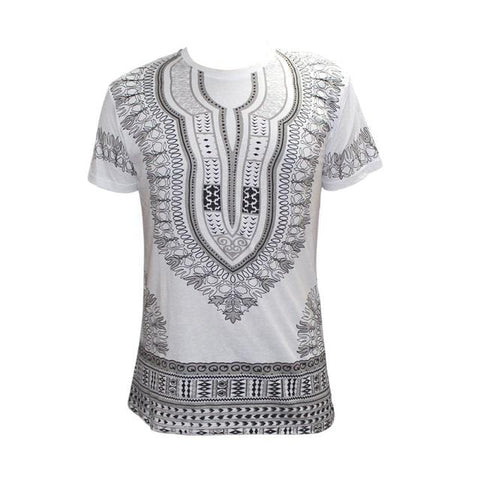 African Men's Short Sleeve  Dashiki Style t-shirt RLW929