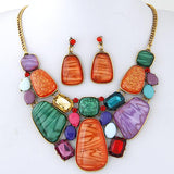 Multicolour Stone Jewellery Sets RLW1299