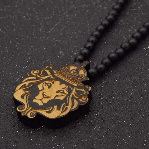 Lion of judah wooden Pendant/necklace RLW1392