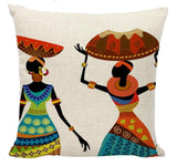 Colourful Pillows African Woman Girl Dancing Cushion Cover RLW1050