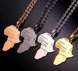 Cool African Rose Gold/Black/Gold/Silver Color Necklace RLW1162