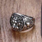 Stainless Steel Lion Head Ring RLW1662