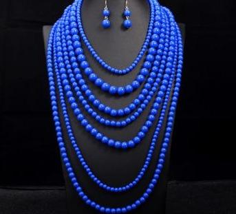 African  Multi layer Jewellery Set RLW1289