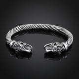 Wolf Head Bracelet I Viking Bracelet /Bangle RLW2091