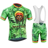 Rastafarian 420 Men's Bicycle Jersey + bibs kit RLW1039
